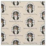 Bernese Mountain Dog Fabric