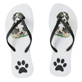 Bernese Mountain Dog Flip Flops