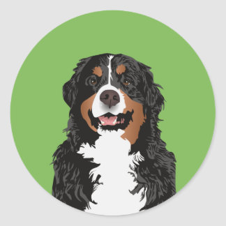 BERNESE MOUNTAIN DOG FOR BERNESE MOUNTAIN PARENT CLASSIC ROUND STICKER