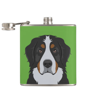 Bernese Mountain Dog Hip Flask