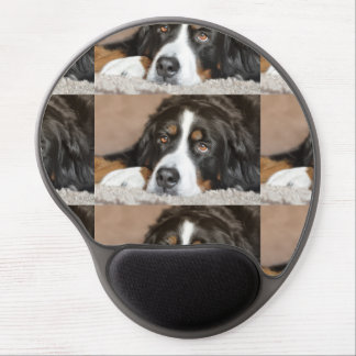 bernese mountain dog laying gel mouse pad