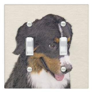 Bernese Mountain Dog Light Switch Cover