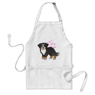 Bernese Mountain Dog Love Standard Apron