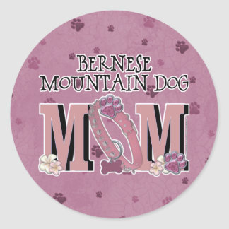 Bernese Mountain Dog MOM Round Sticker