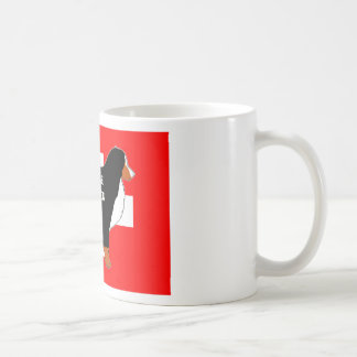 bernese mountain dog name silhouette on flag rust. coffee mug