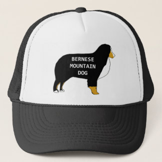 Bernese Mountain Dog name silhouette tan Trucker Hat