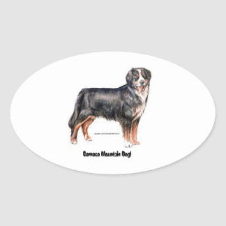Bernese Mountain Dog Oval Sticker