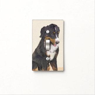 Bernese Mountain Dog Painting - Original Dog Art Light Switch Cover