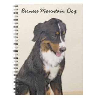 Bernese Mountain Dog Painting - Original Dog Art Notebook