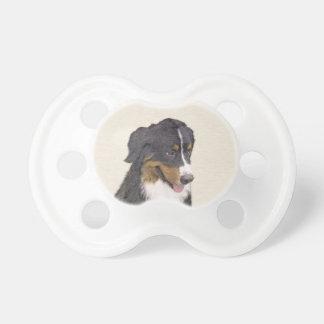 Bernese Mountain Dog Painting - Original Dog Art Pacifier