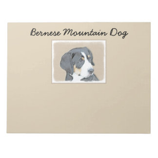 Bernese Mountain Dog Puppy Notepad