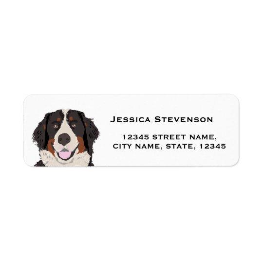 bernese mountain dog return address label
