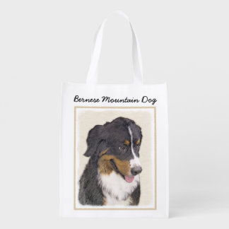 Bernese Mountain Dog Reusable Grocery Bag