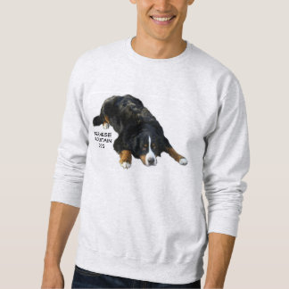 Bernese mountain Dog Rug Pose Sweat Shirt