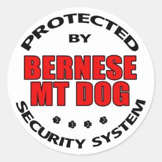 Bernese Mountain Dog Security Classic Round Sticker