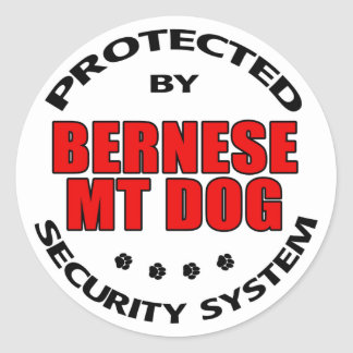 Bernese Mountain Dog Security Round Sticker