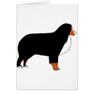 Bernese Mountain Dog silhouette rust Card
