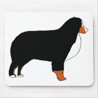 Bernese Mountain Dog silhouette rust Mouse Pad