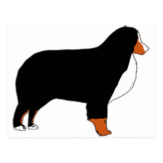 Bernese Mountain Dog silhouette rust Postcard