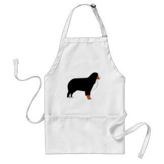 Bernese Mountain Dog silhouette rust Standard Apron