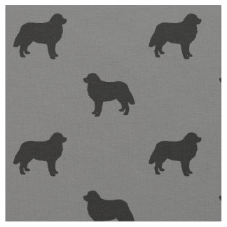 Bernese Mountain Dog Silhouettes Pattern Fabric