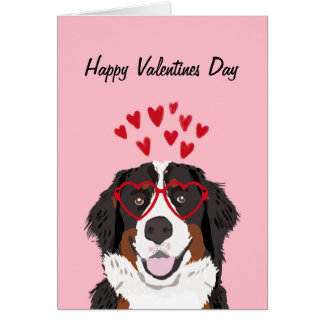 Bernese Mountain Dog Valentines Dog Love Card