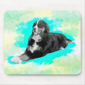 Bernese Mountain Dog Watercolor Art Throw Mouse Pad