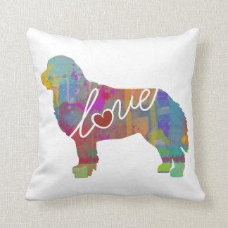 Bernese Mountain Dog Watercolor Throw Pillow