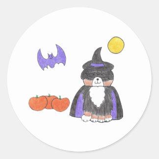 Bernese Mountain Dog Witch Sticker