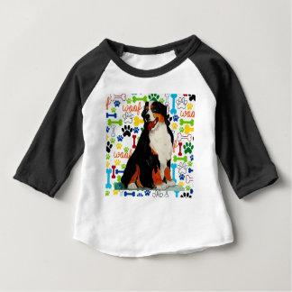 Bernese Mountain dog woof paw bone Baby T-Shirt