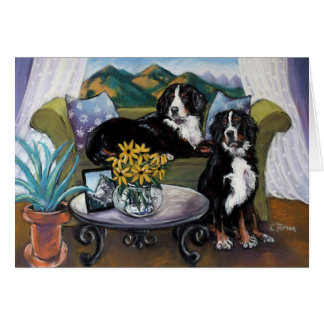 Bernese Mountain Dogs Card