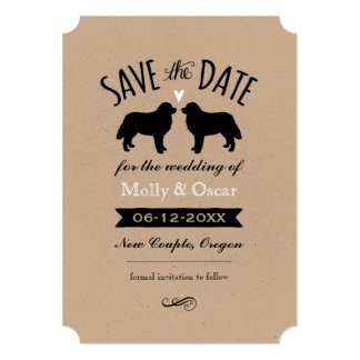 "Bernese Mountain Dogs Wedding Save the Date 5"" X 7"" Invitation Card"