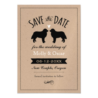 Bernese Mountain Dogs Wedding Save the Date Magnetic Invitations