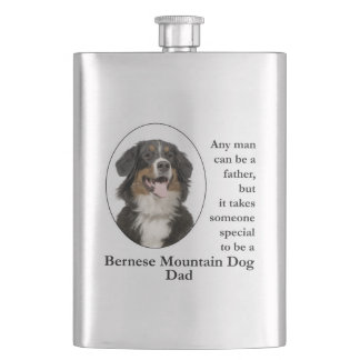 Bernese Mt. Dog Dad Flask