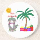 Bernese Mtn Dog Hawaiian Christmas Coaster