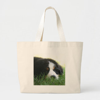 Bernese Puppy Large Tote Bag