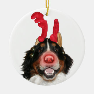 Bernese Roodolph (Rudolph) Round Ceramic Ornament