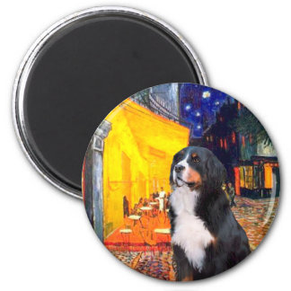Bernese - Terrace Cafe 2 Inch Round Magnet