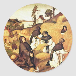 Bernhard Altar Scenes From The Life Of Saint Berna Classic Round Sticker