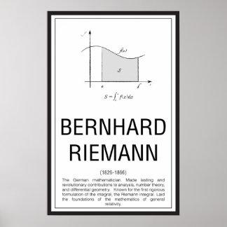 Bernhard Riemann Poster