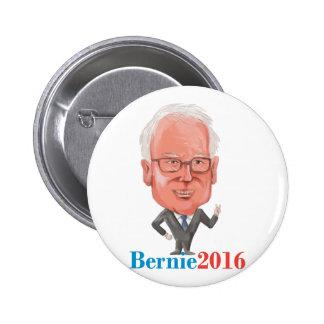 Bernie 2016 Democrat President Caricature 2 Inch Round Button
