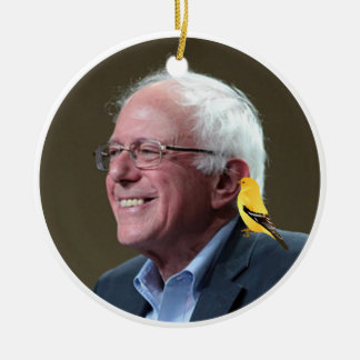 Bernie and Bird Ceramic Ornament