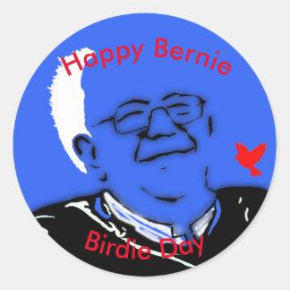 Bernie Birdie Day Classic Round Sticker
