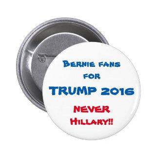 Bernie fans for Trump button