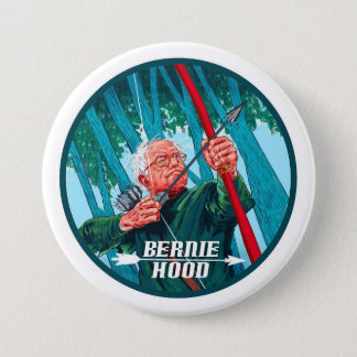 Bernie Hood 3 Inch Round Button