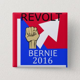 Bernie Revolt sq. 2 Inch Square Button