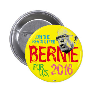 Bernie Revolution 2016 Political Pinback Button
