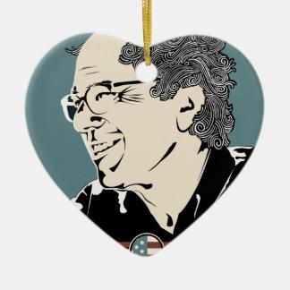 Bernie Sanders 2016 Ceramic Heart Ornament