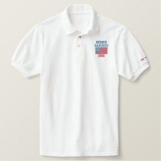 Bernie Sanders 2016 Custom Embroidered Polo