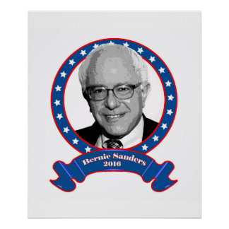 Bernie Sanders 2016 poster. Poster